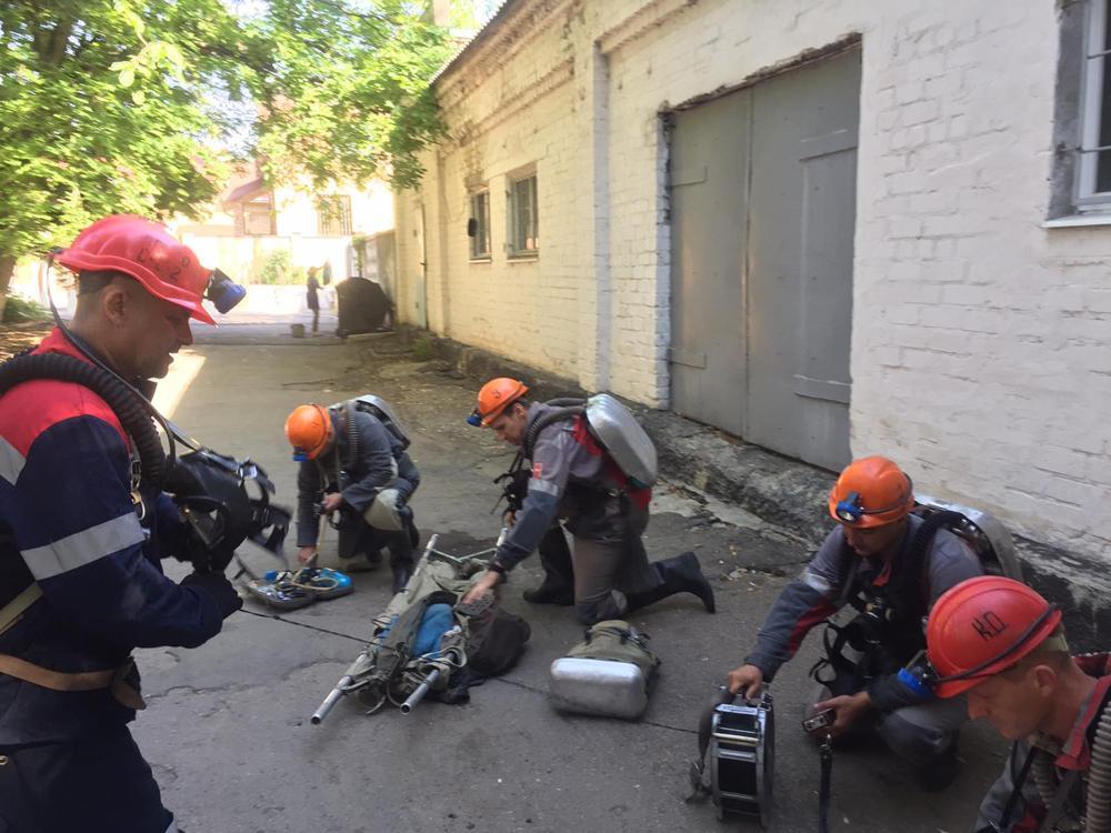 МЧС ДНР провело учебную тревогу на шахте имени М. Горького