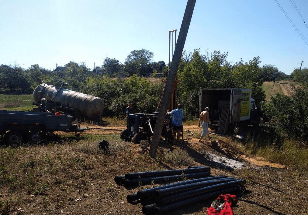 В Тельмановском районе ДНР бурят скважины питьевой воды