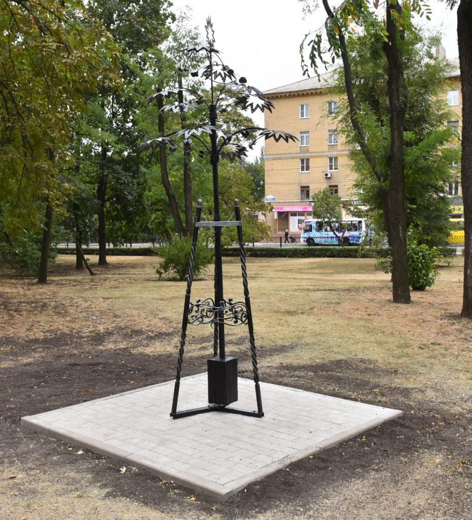 В Донецке презентовали второй в истории города кинетический арт-объект