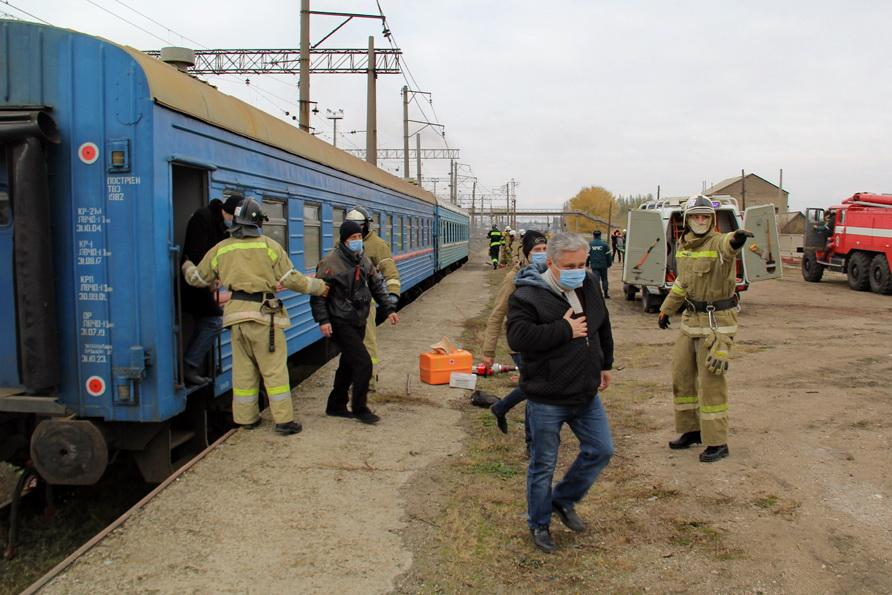Прошли учения по предупреждению диверсии на железнодорожном полотне