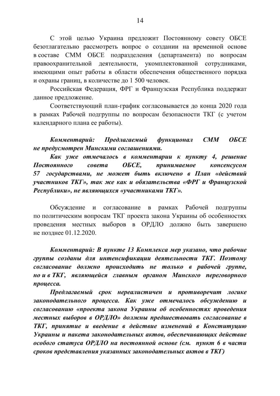 МИД Республики опубликовало «план действий» Украины
