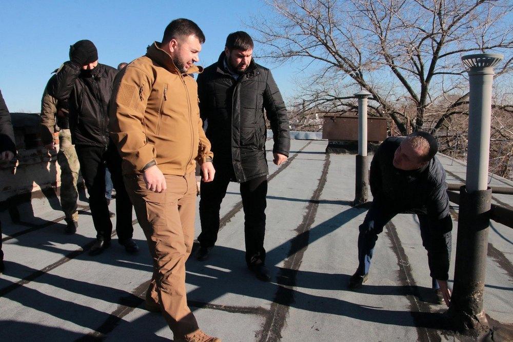 Глава ДНР проинспектировал ремонт объектов Макеевки