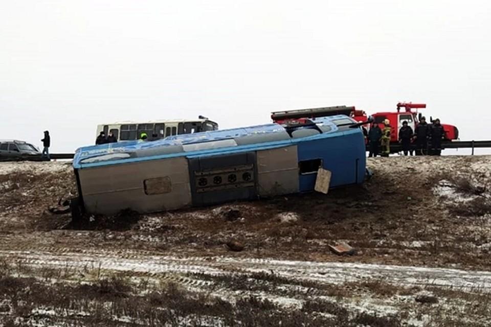 В Ростовской области перевернулся автобус «Москва–Донецк»