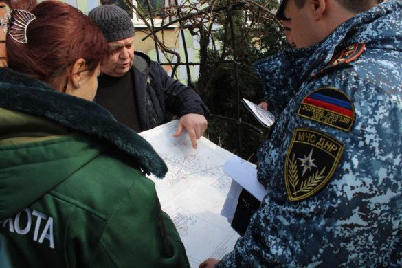 Сотрудники МЧС ДНР провели учение по тушению пожаров в лесах