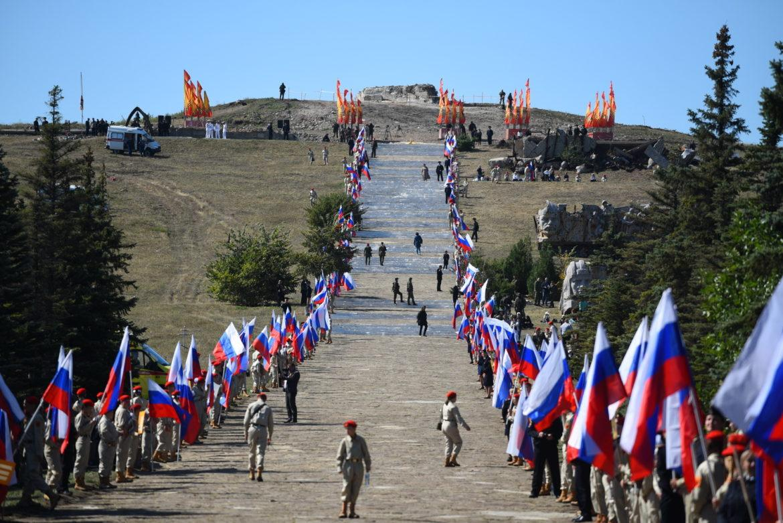 На Саур-Могиле прошло мероприятие в честь Дня освобождения Донбасса (ФОТО)